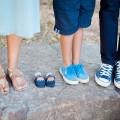 Familie Beine Füße Schuhe
