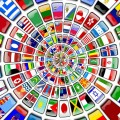 Flaggen, Rad, Kreis, Fahnen