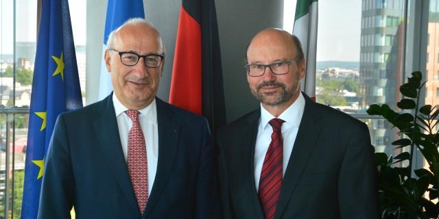 Minister trifft französischen Botschafter zum Landesjubiläum