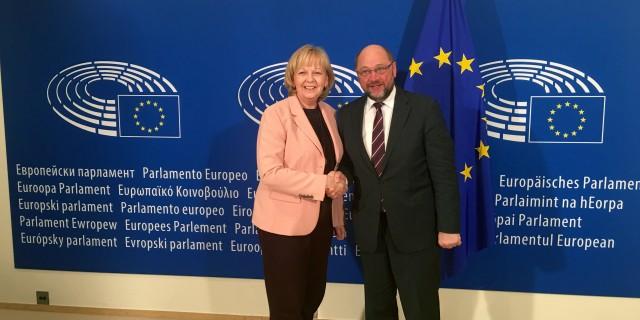 Ministerpräsidentin Kraft mit Martin Schulz