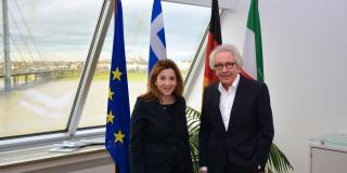Generalkonsulin Griechenland zu Gast in der Staatskanzlei