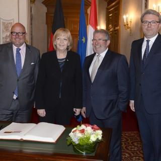 Ministerpräsidentin Hannelore Kraft und Staatssekretär Marc Jan Eumann besuchen Luxemburg