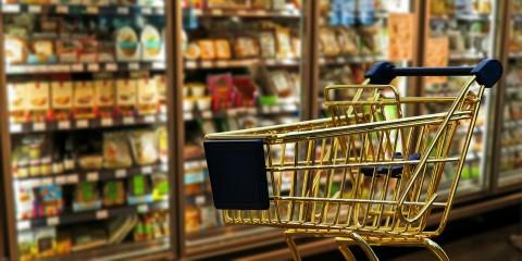 Lebensmittel Supermarkt Einkaufswagen