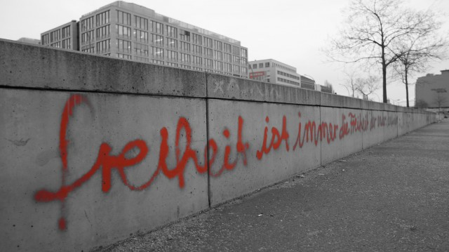 Mauer Grafiti Freiheit anders Denkender