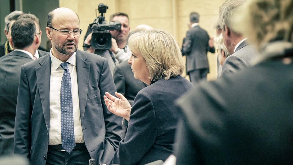 Ministerpräsidentin Kraft und Minister Lersch-Mense im Bundesrat