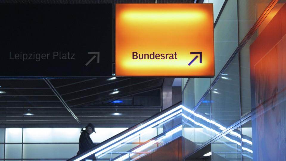 Bundesrat Treppe U-Bahn Schild