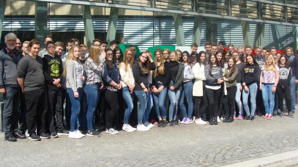 Besuchergrupppe der Privaten Bischöflichen Fürstenberg Realschule in Recke