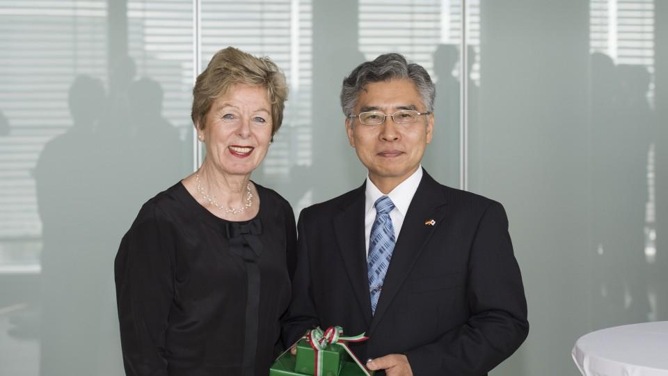 Verabschiedung des Generalkonsuls von Japan