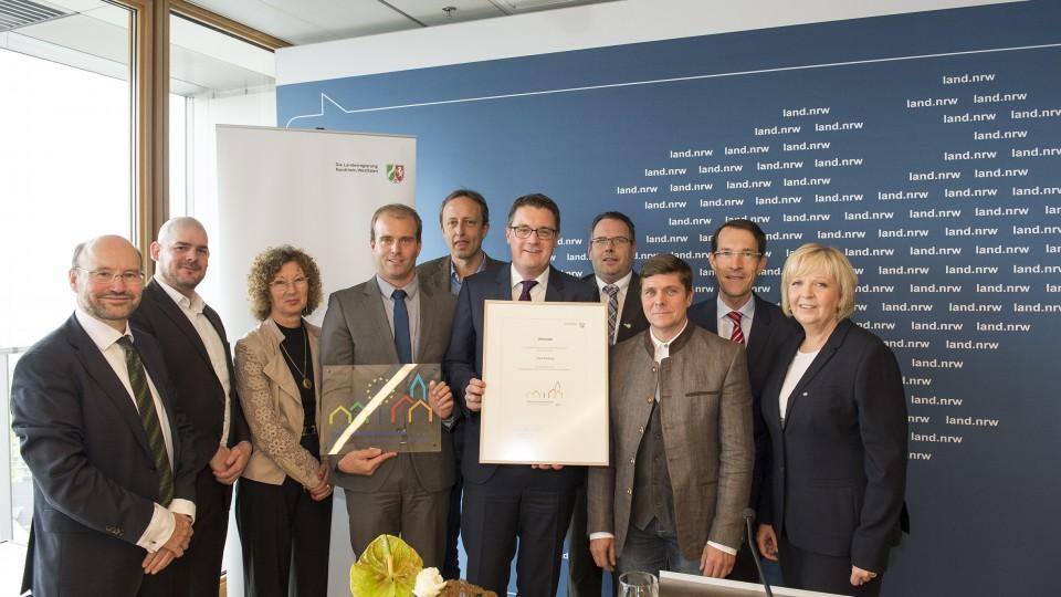 Auszeichnung Europaaktive Kommune 2015 / 1