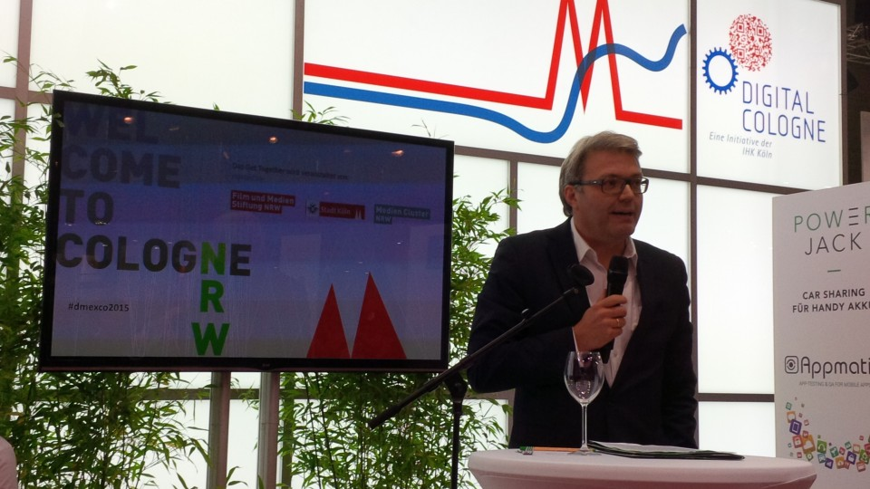 Staatssekretär Eumann auf der Messe dmexco in Köln