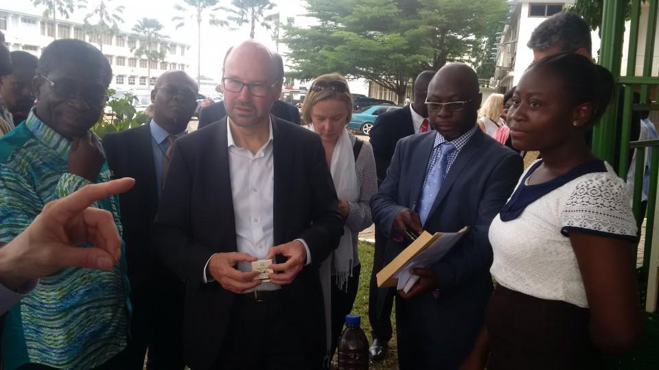 Minister Lersch-Mense informiert sich in Kumasi über die Nutzung Erneuerbarer Energien
