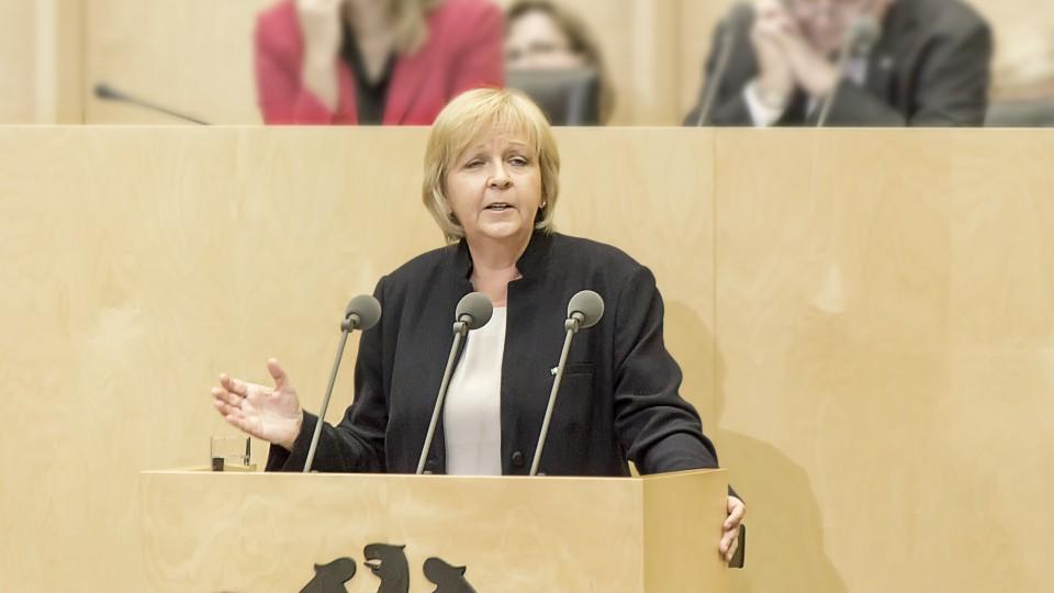 Ministerpräsidentin Hannelore Kraft im Bundesrat