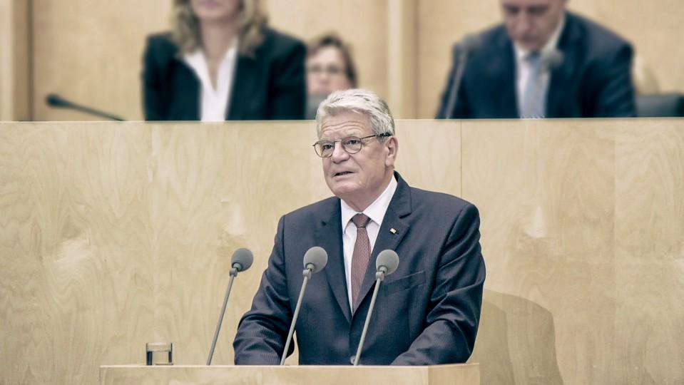 Bundespräsident Joachim Gauck im Bundesrat