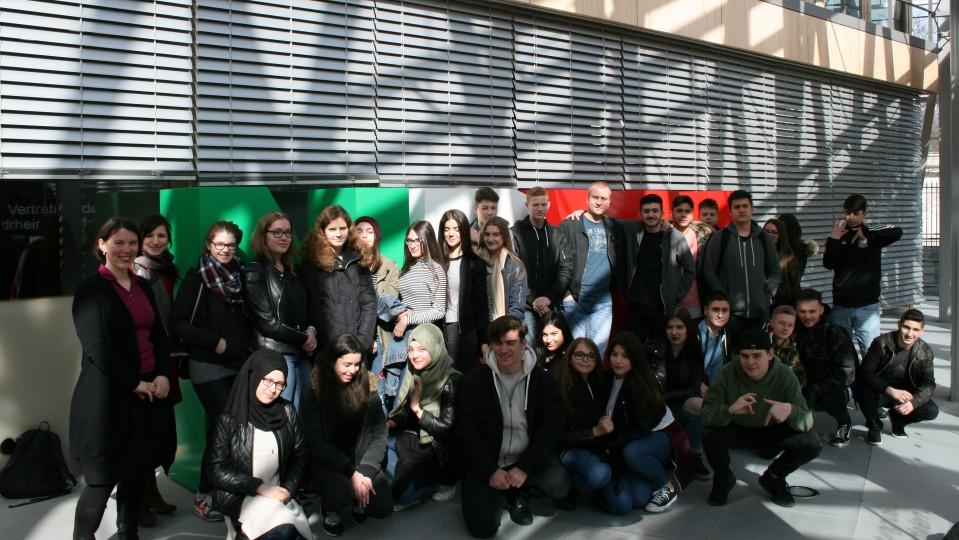 15.03.2017 Besuchergruppe von Schülern des Fichte-Gymnasiums