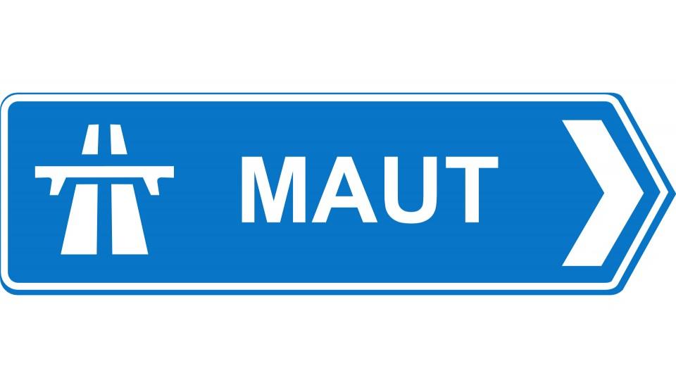 Autobahn Schild Maut Pfeil