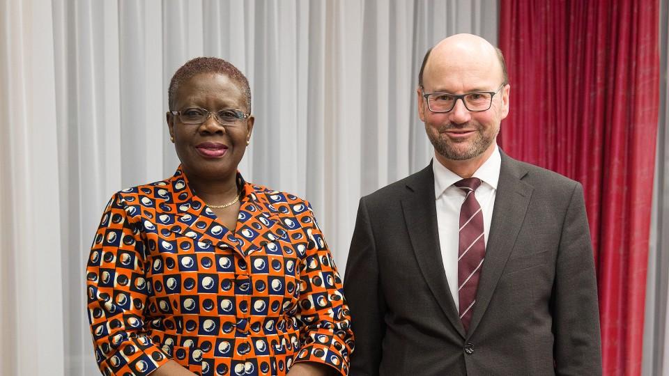 Empfang der Botschafterin der Republik Ghana